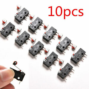 10Pcs KW12-3 Micro Roller Lever Arm Open Close Limit Switch Miniature Switch