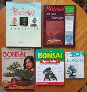 Bonsai Books x 5 Miniature Trees Growing Japanese Gardening Care Selection