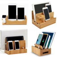 Bambou Bois Chargement Dock Station Chargeur Support Pour IPHONE Montre Ipads +A