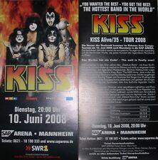 KISS - Alive 35 - Tour 2008 - Flyer + Konfetti