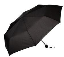 New Compact Umbrella Solid Black Design Manual Open Unisex 55cm Length Susino