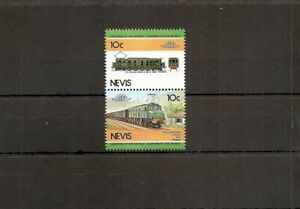 Nevis 1984 SG221-2 2v NHM Locomotive-PO Class 5500 2-do-2 1927 France Electric