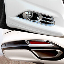 Fit For 2015 2016 Ford Mondeo Chrome Front + Rear Fog Light Lamp Trim Cover 2in1