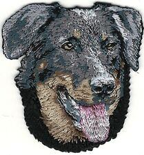 "2 1/8"" x 2 1/4"" Beauceron Dog Breed Portrait Embroidery Patch"
