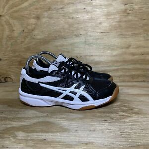 ASICS Upcourt 3 Volleyball Shoes Womens Size 7.5 Black White 1072A031