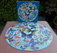 Springbok A Burst of Butterflies Circular Round 500 Piece Jigsaw Puzzle Complete
