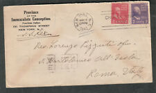 1940 cover Prov Immaculate Conception-Rev Pizzuti Rome/SS Rex Allied bombed WWII
