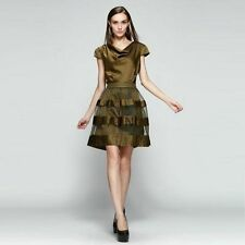 Party Patternless Cap Sleeve Cocktail Dresses for Women