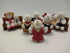 Sarah's Attic Snowonder Snow Blessings Lot of 6 Church Worship Figurines