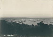 Espagne, Las Palmas, vue panoramique sur le port  Vintage silver print,  T