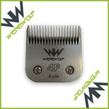 4 Werewolf Professional Dog Clipper Blades Size 4F 9mm, Oster, Andis, Sure Clip