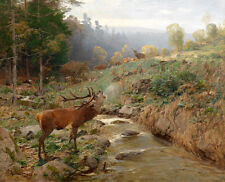 Canvas HD Print Oil painting A small stream of Bucks printed on canvas L1040
