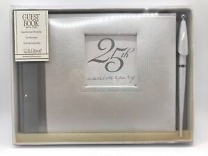 25th Anniversary Guest Book with Pen by C.R. Gibson NEW
