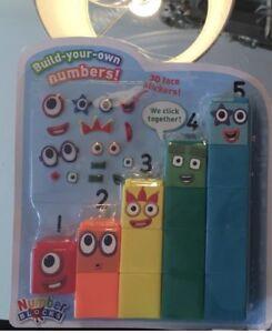 Numberblocks, Cbeebies Number Blocks 1-5 With3DFace🥳 Stickers,100%GENUINE 🤗