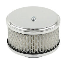 """EMPI VW Bug  4""""/ 3""""Tall, Chrome Mini Air Cleaner for Stock Carb 2"""" Neck  9012"""