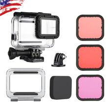 For GoPro Hero7 6 5 Black Underwater Waterproof Dive Housing +3X Lens Filter Kit