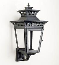 "Vintage Black ""Yorkshire"" Flush Fitting Garden Porch Wall Lantern"