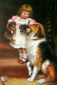 """High Quality Oil Painting """"Which Hand"""" 24""""x36"""""""