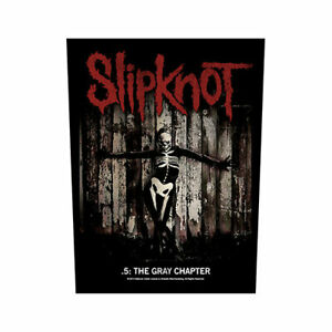 """SLIPKNOT - """"THE GRAY CHAPTER"""" - LARGE SIZE - SEW ON BACK PATCH - OFFICIAL"""