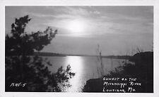 Postcard MO Louisiana Sunset On Mississppi River MH8-5 Vintage RPPC Missouri PC