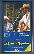 LUCIO DALLA & FRANCESCO DE GREGORI BANANA REPUBLIC con RON  VHS
