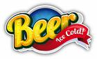 "Beer Ice Cold Slogan Car Bumper Sticker Decal 5"" x 3"""