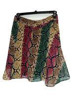 INC International Concepts Women Python Snake Animal Print MidRise Skirt Size 6