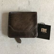 FRYE Melissa Small Snap Leather Wallet Slate New With Tag
