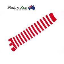 Five Fingers Ladies Knee High Toe Socks Red White Size 2-8 Womens AU