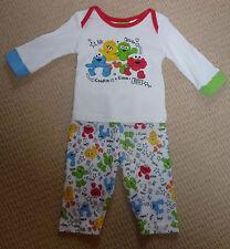 NWOT Sesame Street Licensed Boys Girls Long Sleeve Winter Pyjamas Size 00