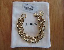 "J Crew NWT Gold Chain Link Bracelet Antique Gold 7 1/4"" #54878"