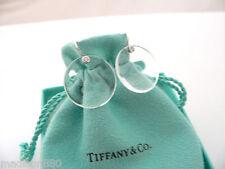Tiffany & Co Peretti Platinum Diamonds Rock Crystal Disc Round Dangle Earrings