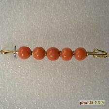 Pumps mit Rote Koralle Gelbgold 18KT Gr 2.9 10011