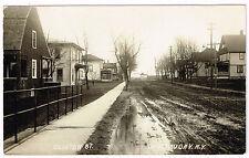 RPPC NY Clinton Street, Chateaugay, New York Adirondack Foothills