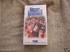 A Night To Remember Titanic VHS 1995 Sealed