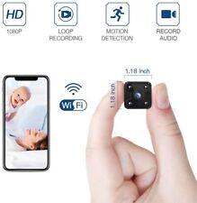 FREDI Hidden Spy Camera, 1080P HD Mini Wireless WiFi Small Nanny Cam with Night