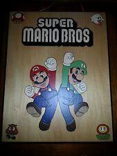 Super Mario Bros. Hand Made Pyrography Wall Plaque Art 14 x 11