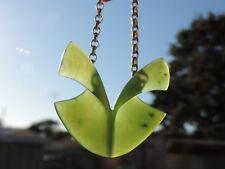 Josey Coyle MARSDEN JADE Maori Greenstone Pounamu Nephrite PETAL-FOLDS necklace