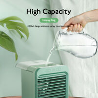 Portable USB Mini Rechargeable Water-cooled Air Conditioner Desktop Cooling Fan