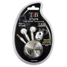 Auriculares Estéreo T`nB iPure con cordón Blanco -  Especial para iPod nano