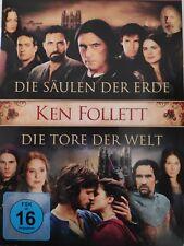 Ken Follett Collection  Die Säulen der Erde + Die Tore der Welt 8 DVDs 770min