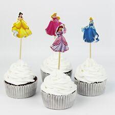 24pcs Principessa Torta Cupcake Topper Festa di Compleanno Bambini Tema Decorazione Stand-Up