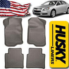 Husky Liners 2007-2012 Chevy Malibu / Saturn Aura Floor Mats WeatherBeater Gray