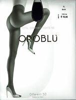 Oroblu Different 50, 50 DEN, blickdichte Strumpfhose, schwarz, L = 42-44