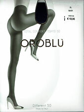 Oroblu Different 50, 50 DEN, blickdichte Strumpfhose, schwarz, Gr. 44-46