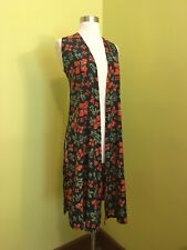 Size XS Lularoe Joy Tropical Hibiscus Floral Duster Vest Over Shirt NWT New