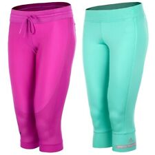 Adidas Stella Mccartney 3/4 pantalones SEÑORA LEGGINS corre pantalones sport Capri turquesa Pink