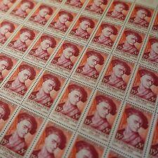 FEUILLE SHEET PEINTRE DE LA TOUR N°1110 x50 1957 NEUF ** LUXE MNH COTE 225€