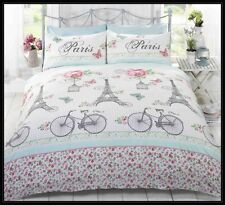 PARIS EIFFEL TOWER C'est La Vie Pink QUEEN Size Quilt Cover Set