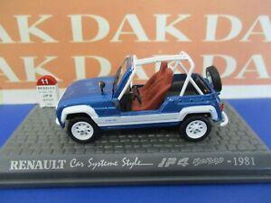 Die cast 1/43 Modellino Auto Renault 4 JP4 BeBop 1981 aperta